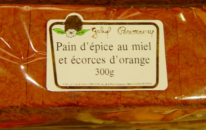 Pain d'Epice au miel et écorces d'orange